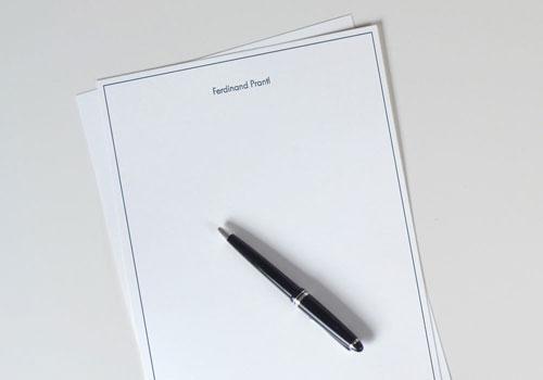 Hochwertige Briefbogen