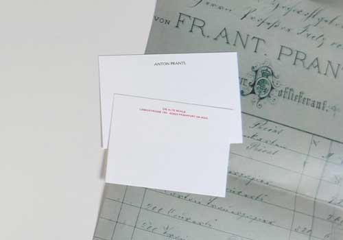 Stahlstich Briefpapier