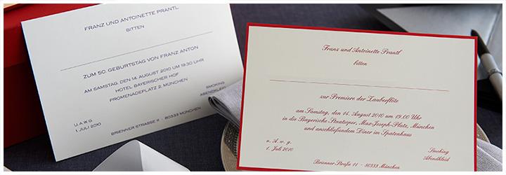 Klassische Einladungen Zum Selber Gestalten Klassische Und Geränderte  Einladungskarten