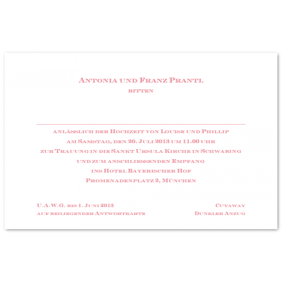 Klassische Hochzeitseinladungen Prantl Seit 1797