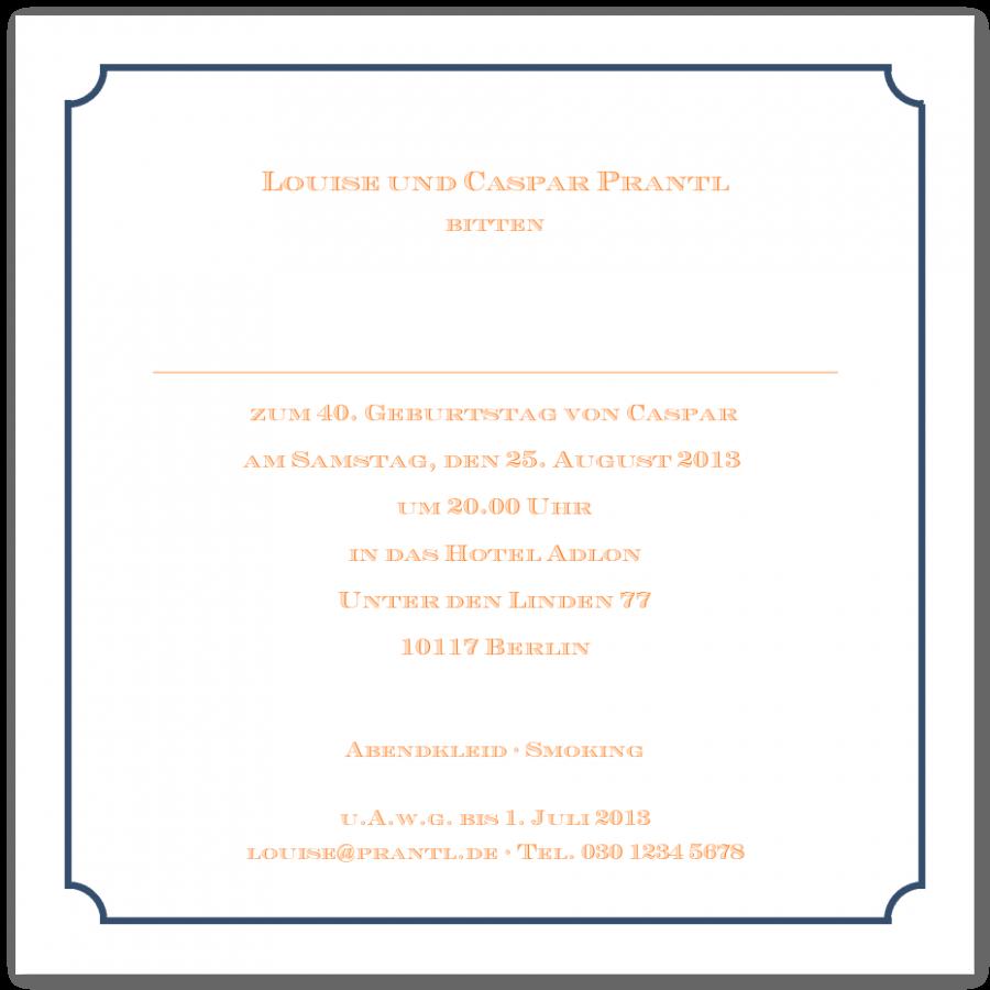 Einladungskarten \