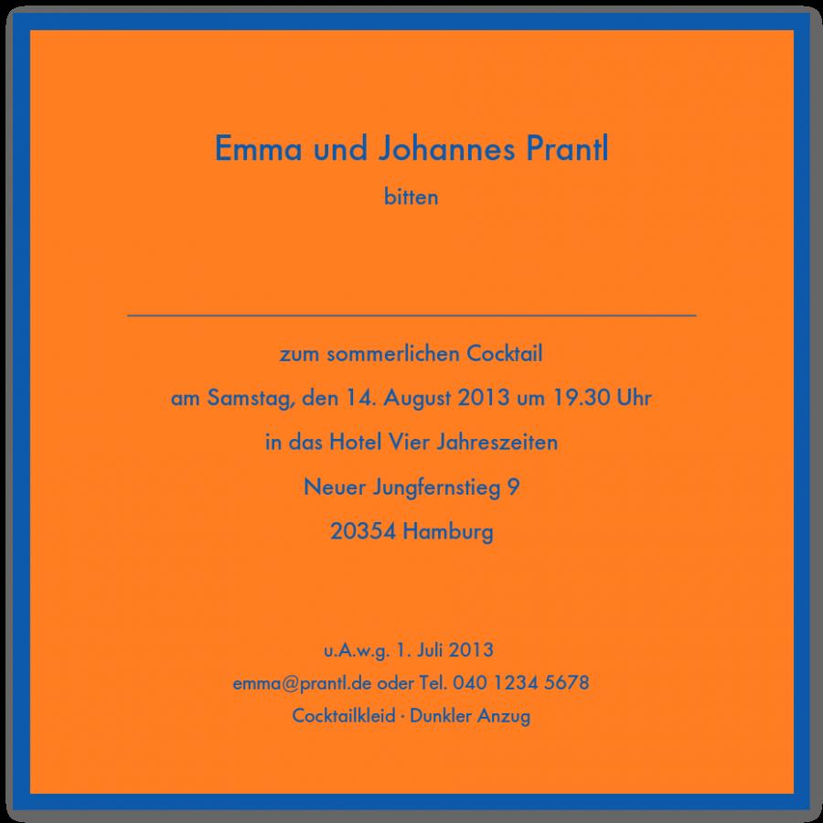 Bunte quadratische geränderte Einladungen | Prantl seit 1797
