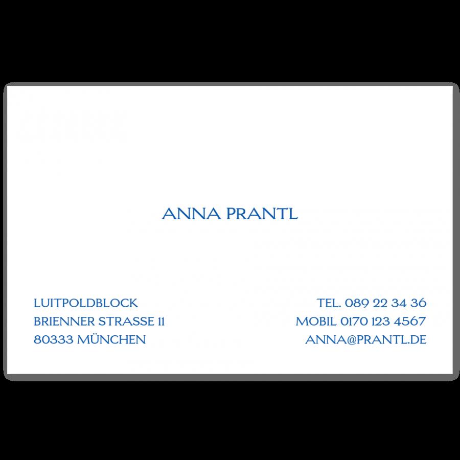 Stahlstich Visitenkarten Prantl Seit 1797