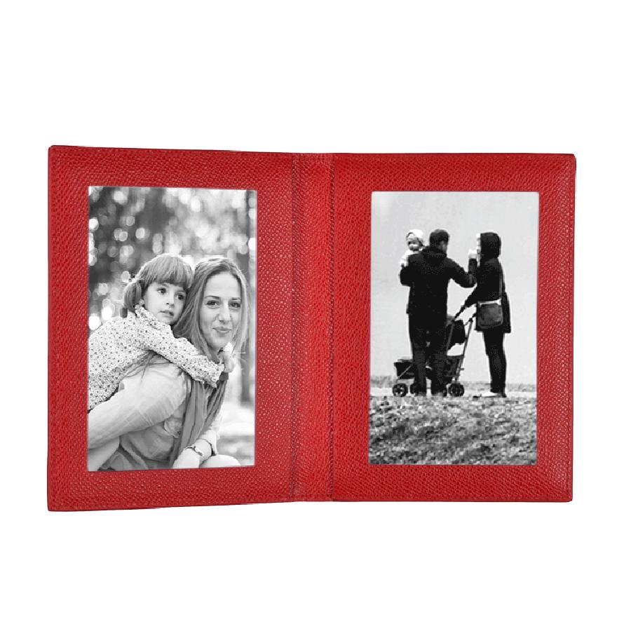 Leder Fotorahmen in rot | Prantl seit 1797