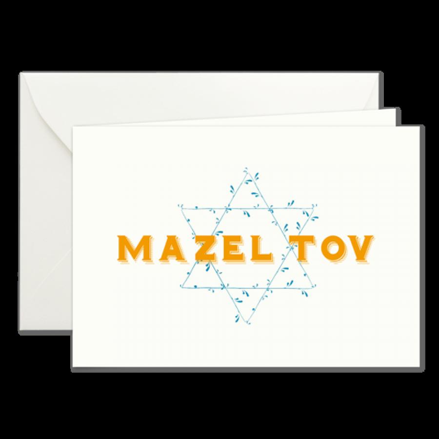 Weihnachtskarten Blanko.Mazel Tov Klappkarten Zum Selber Beschreiben Prantl Seit 1797
