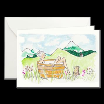 Alpenbad, illustrierte Karten von Kera Till