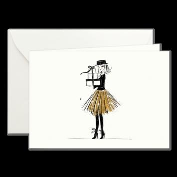 Bescherung, illustrierte Weihnachtskarten von Kera Till