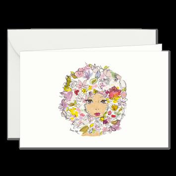 """Einladungskarten """"Blumenschal"""" mit Text """"bitten"""" designed von Kera Till"""