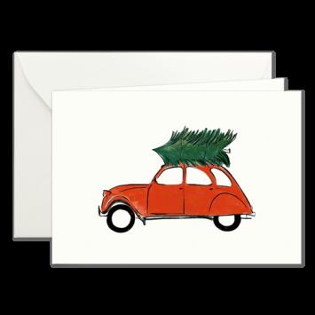 Rote Ente, illustrierte Weihnachtskarten von Kera Till