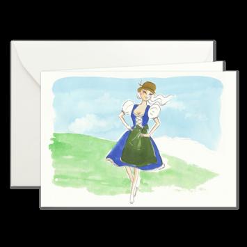 Dirndl, illustrierte Karten von Kera Till