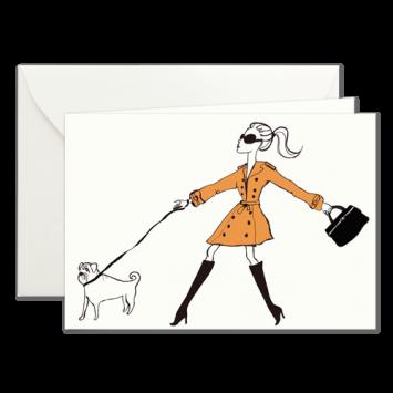 Dog Walker, illustrierte Karten von Kera Till