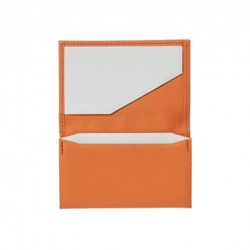 'Ebicha' Visiten- und Kreditkartenetui mit einem Fach in Orange