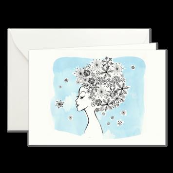 Eisblumen, illustrierte Weihnachtskarten von Kera Till