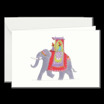 """Einladungskarten """"Elefant"""" mit Text """"bitten"""" designed von Kera Till"""