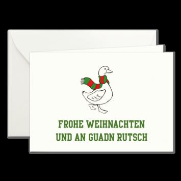 Weihnachtskarten mit Gänsemotiv