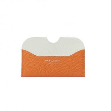 'Hanaasagi' Kreditkartenhalter mit gerundeten Kanten in Orange