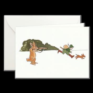 Hasenjagd, illustrierte Karten von Kera Till