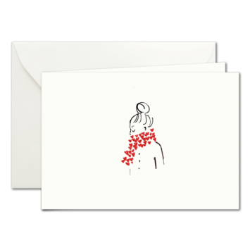 Herz-Schal, illustrierte Karten von Kera Till