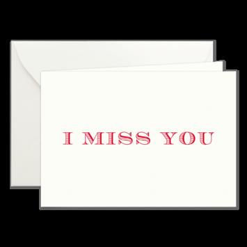 I miss you, Klappkarten in Rot
