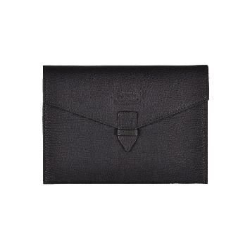 Großes Lederkuvert in schwarz