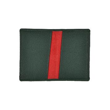 Klapp-Kartenetui in grün