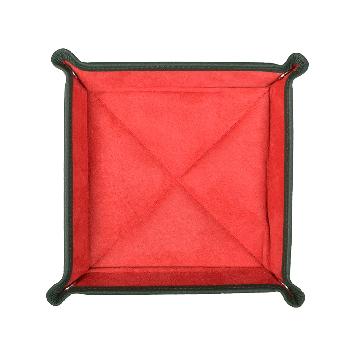 Quadratischer Taschenentleerer in grün / rot