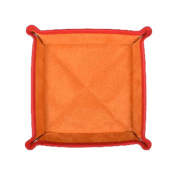 Quadratischer Taschenentleerer in orange / orange