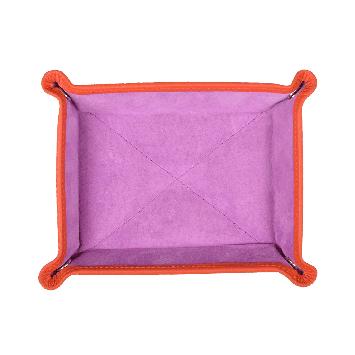 Kleiner Taschenentleerer in orange / lila