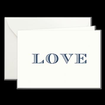 Love, Klappkarten in Dunkelblau