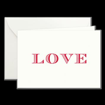 Love, Klappkarten in Rot