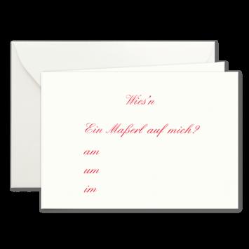 Maßerl, Einladungskarten zur Wies'n in Rot