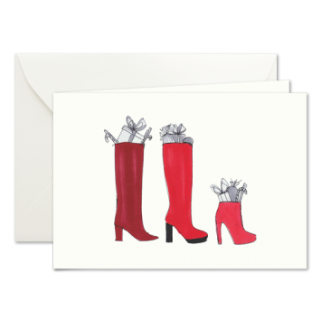 Nikolausstiefel, illustrierte Weihnachtskarten von Kera Till