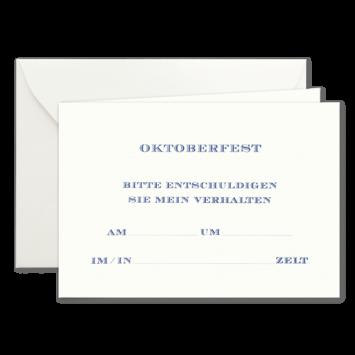 Oktoberfest, Einladungskarten zur Wies'n in Blau