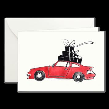 Christmas Shopping, illustrierte Weihnachtskarten von Kera Till