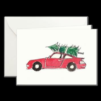 Porsche, illustrierte Weihnachtskarten von Kera Till