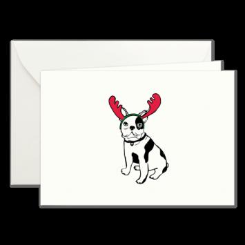 Ren-Hund, illustrierte Weihnachtskarten von Kera Till