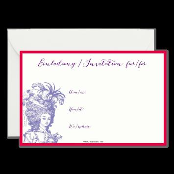 Roccoco blanko Einladungskarten