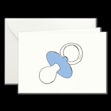 Blauer Schnuller, illustrierte Karten von Kera Till