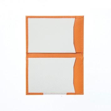 'Shikkoku' Visitenkartenetui mit zwei identischen Fächern in Orange
