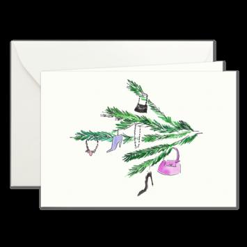 Tannenzweig, illustrierte Weihnachtskarten von Kera Till