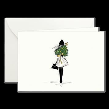 Weihnachtsbaum, illustrierte Weihnachtskarten von Kera Till