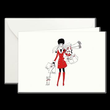 Weihnachtsbummel, illustrierte Weihnachtskarten von Kera Till