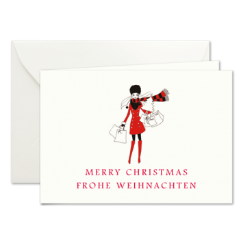 Weihnachtseinkauf, Weihnachtskarten mit einer Illustration von Kera Till