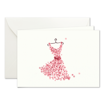 Weihnachtskleid, illustrierte Weihnachtskarten von Kera Till