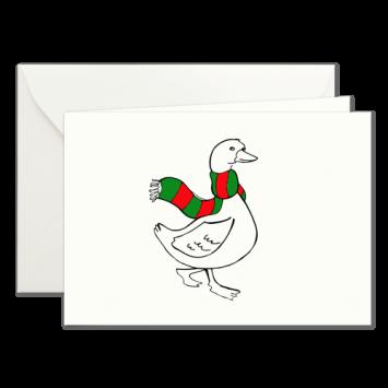 Weihnachtsgans, illustrierte Weihnachtskarten von Kera Till