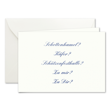 Wohin?, Einladungskarten zur Wies'n in Blau