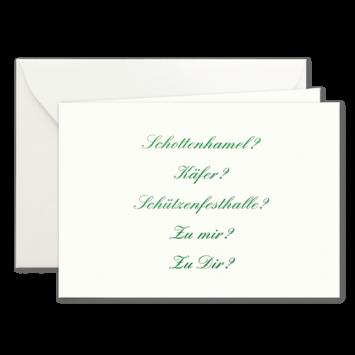 Wohin?, Einladungskarten zur Wies'n in Grün