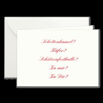 Wohin?, Einladungskarten zur Wies'n in Rot
