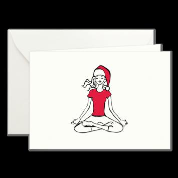 Yoga, illustrierte Weihnachtskarten von Kera Till