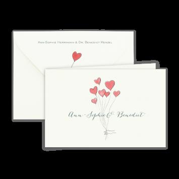 Hochzeits Set - Zwei Herzen